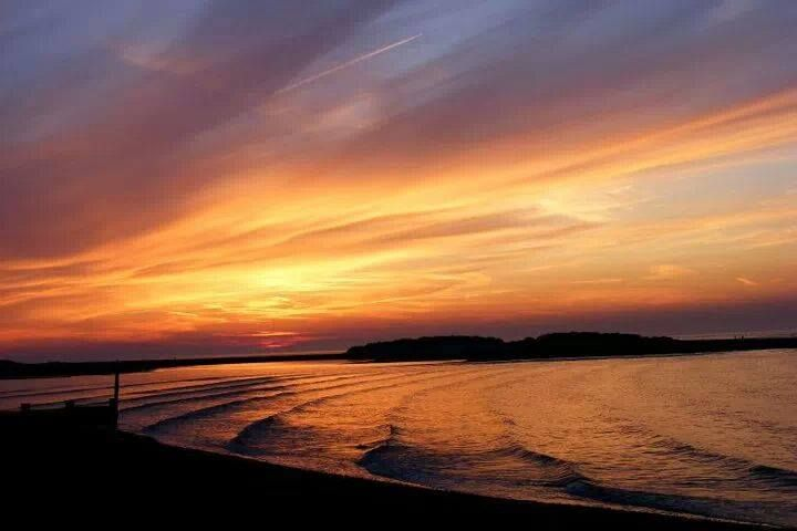 Sunset at Holkham Beach in Norfolk, by Dawn East