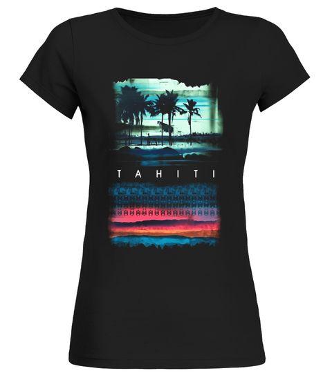 Vintage Style Tahiti Treat Tahitian Surf Board Hawaiian