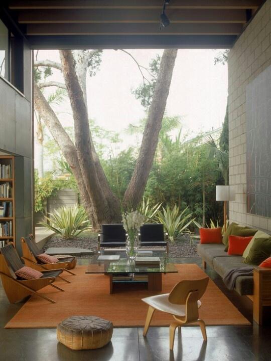 Beautiful Indoor Outdoor Living Room Bachelor Pad
