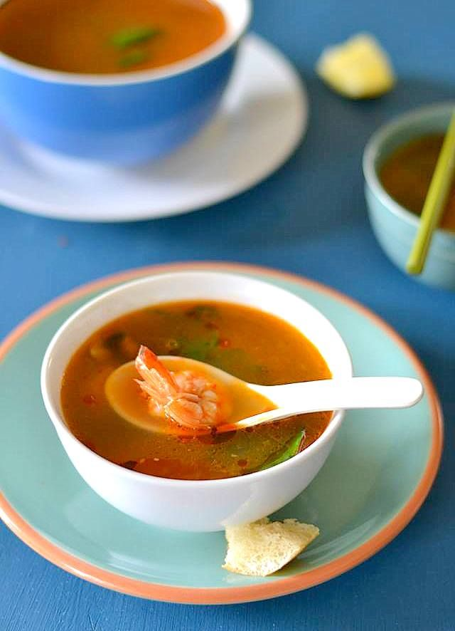 Tom Yum Soup / Tom Yum Goong | Thai Cuisine | Pinterest