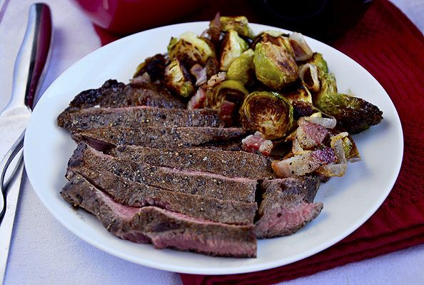 ... with Roasted Brussels Sprouts with Bacon and Shallots - Iowa Girl Eats