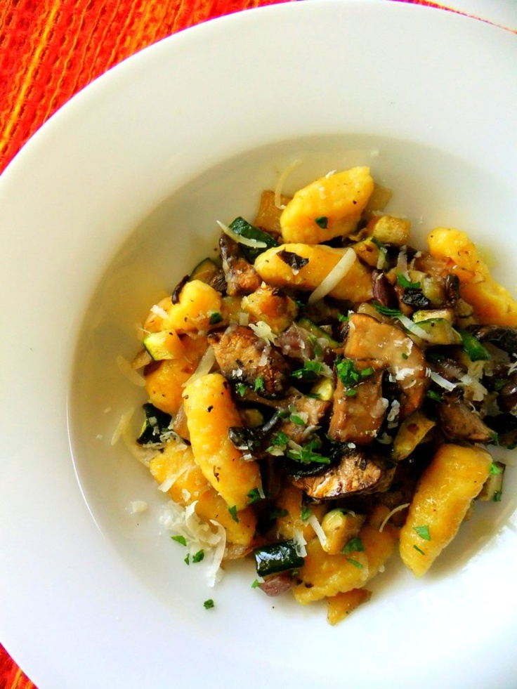 , onions, garlic and zucchini and tossed the butternut squash gnocchi ...