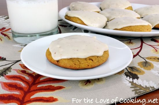 Pumpkin cookies with browned sugar icing- love LOVE this you HAVE to ...