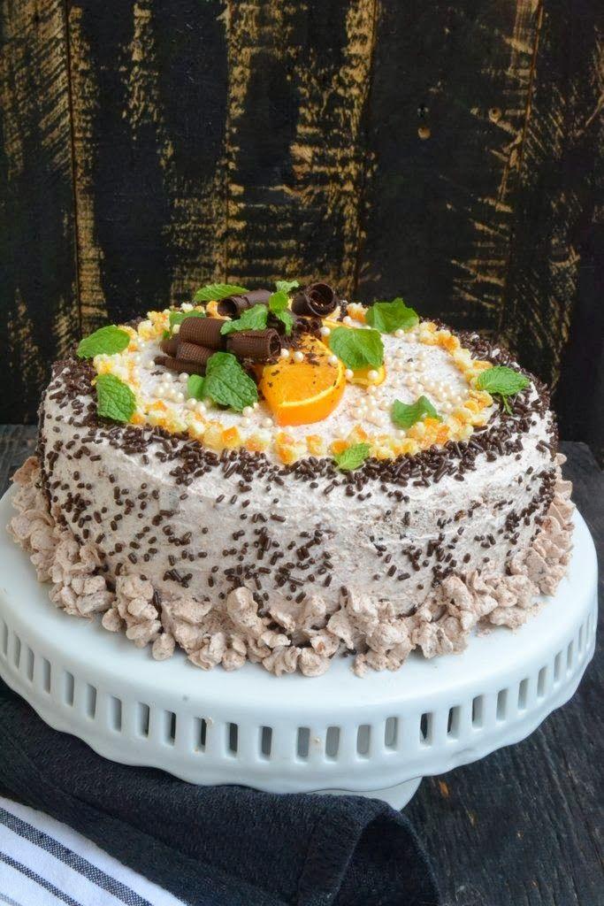 Affair: Orange Cake with Chocolate Whipped cream. Moist and soft cake ...