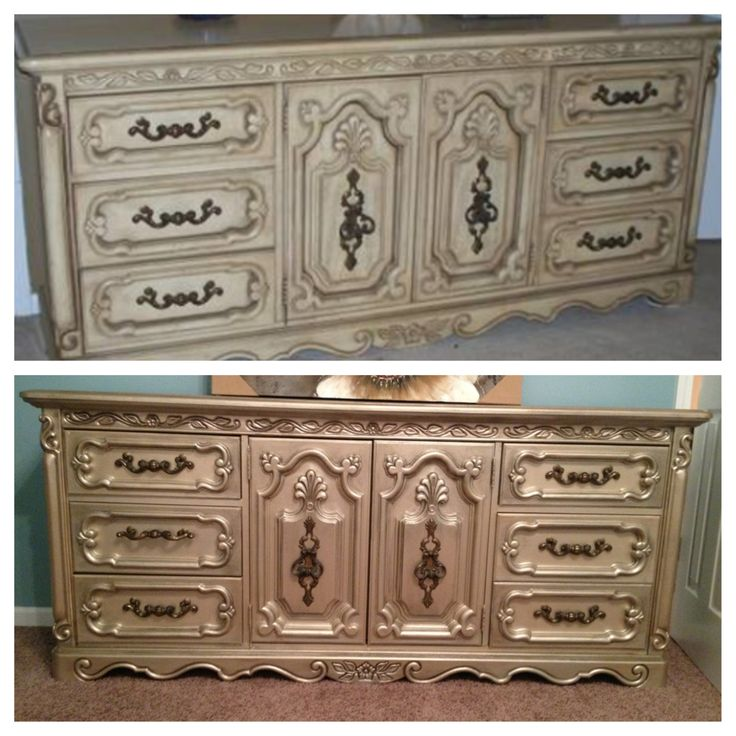Painted Furniture Metallic Paint It 39 S Time To Redecorate Pinterest