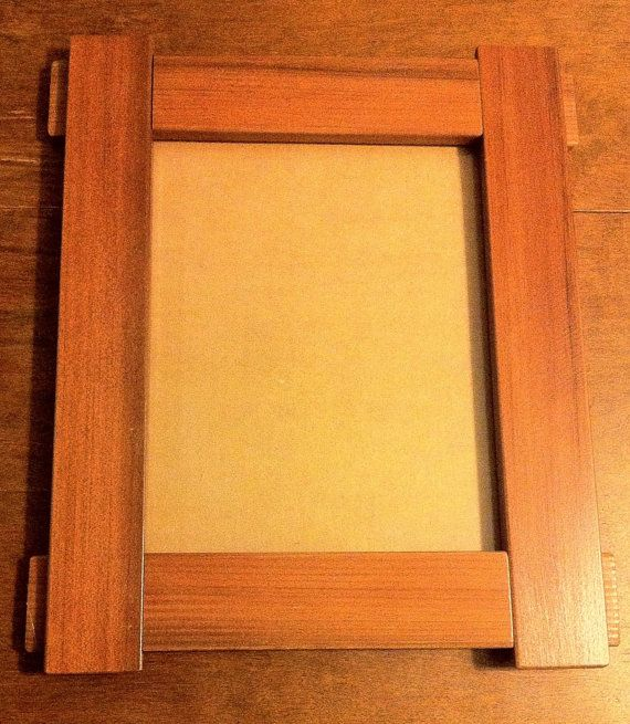Reclaimed Redwood Craftsman Style Picture Frame From