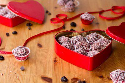 vegan Dark chocolate cherry walnut truffles