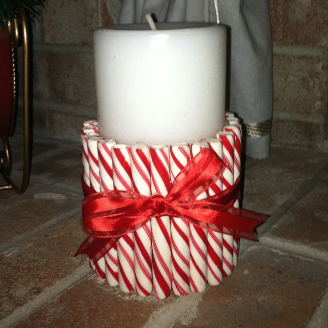 Candy cane candle for the home pinterest for Candy cane holder candle centerpiece
