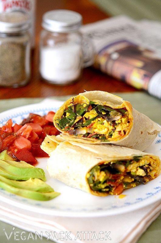 Tofu Scramble Breakfast Burrito. | Food | Pinterest