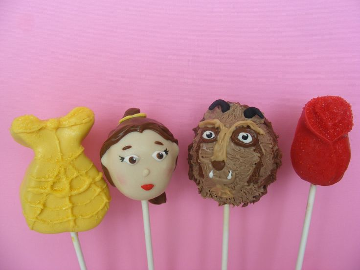 6 Sweet Sets of Disney Princess Cake Pops - Foodista.com -   Beauty & the Beast