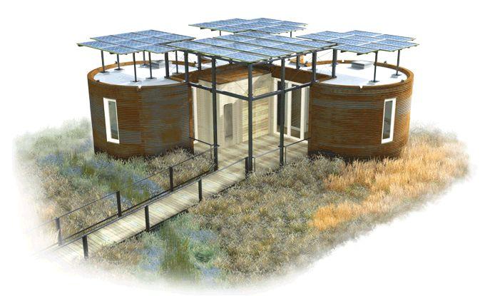Silo house alternative houses pinterest for Small solar home plans