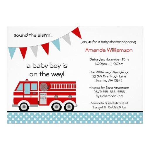 Fire Truck Invites is nice invitations design