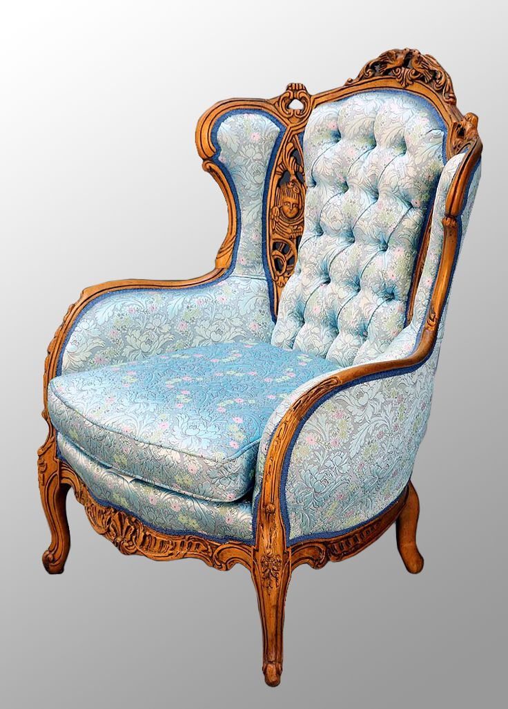 Antique Carved Walnut French Victorian Chair With Heads And Birds To Match The Loveseat Sweet