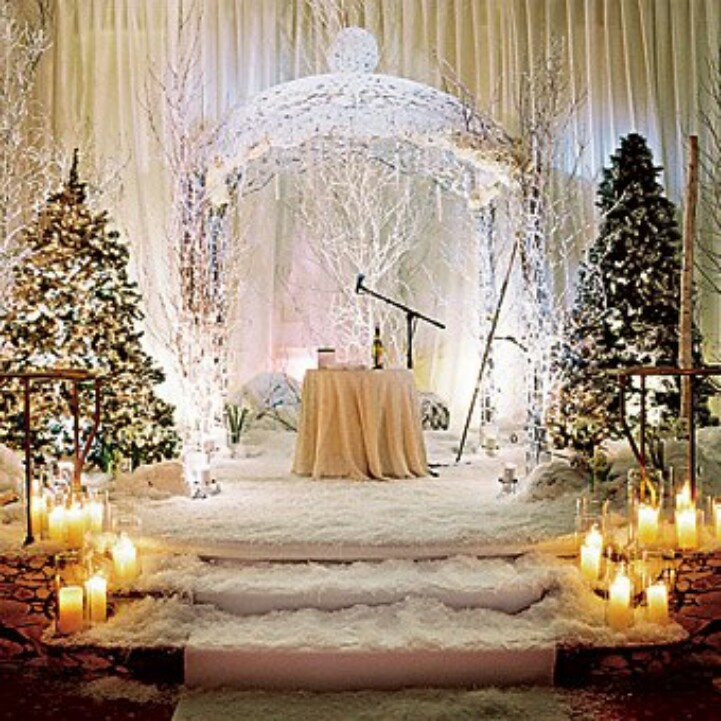 Winter Wedding Altar Decorations: If I Were To Ever Want To Be Married