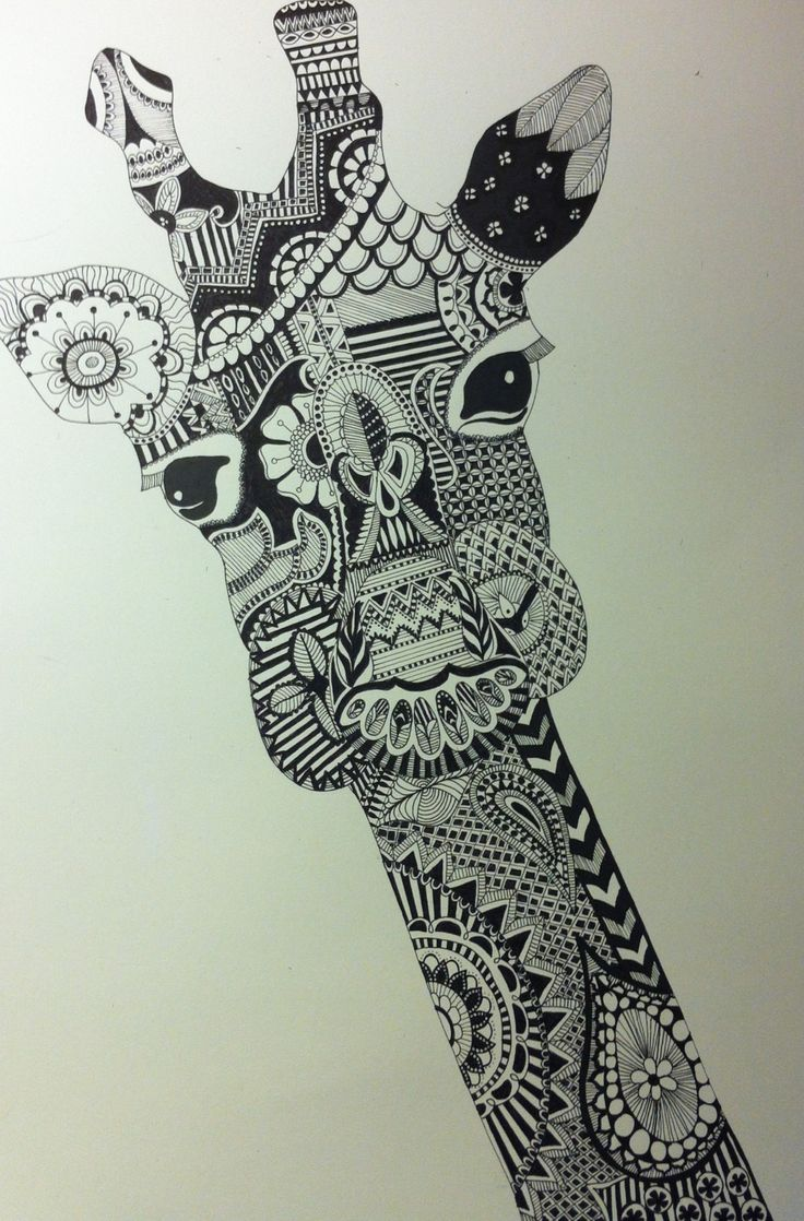 Zentangle Giraffe Pinterest