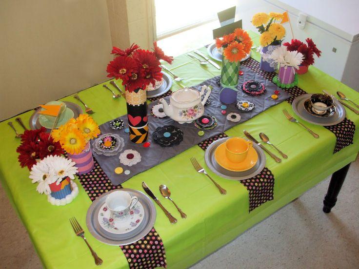 Alice in wonderland tea party table table theme ideas pinterest