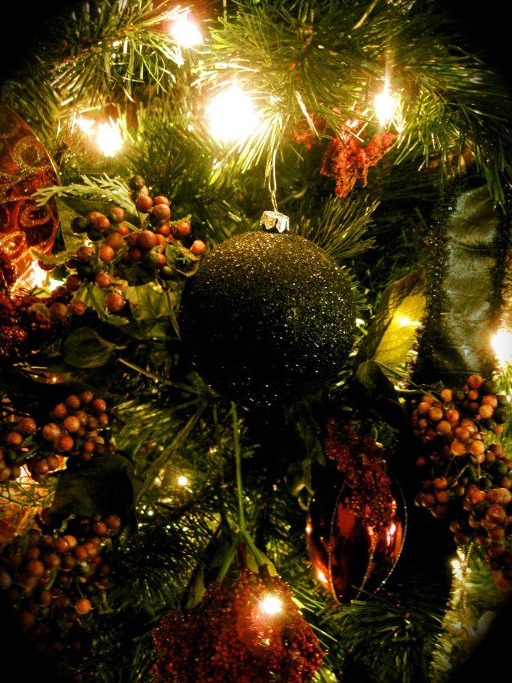 Black glitter christmas tree ornament gotta love the