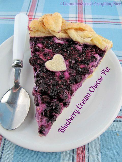 Blueberry Cream Cheese Pie | Meals | Pinterest