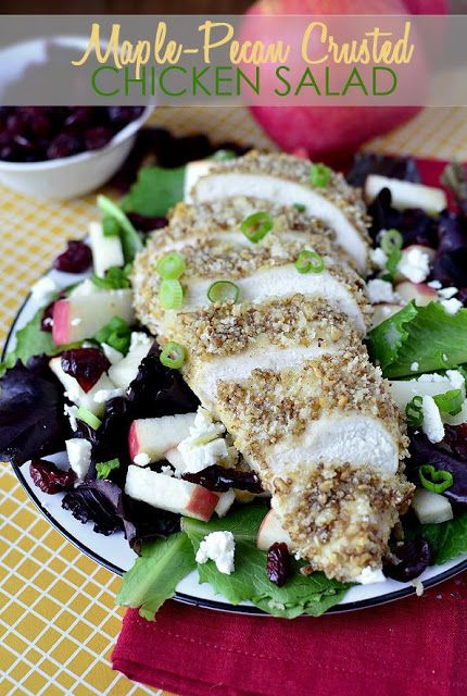 Maple-Pecan Crusted Chicken Salad   Easter Delights!!   Pinterest