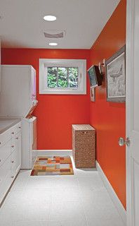Colors For North Facing Rooms Endearing With Orange Laundry Room Pictures