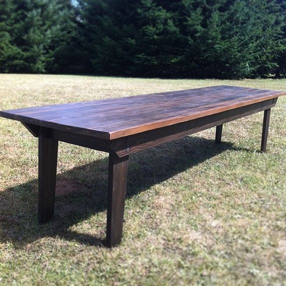 Rustic Farm Table For Large Dining Space By CorneliusTableCo