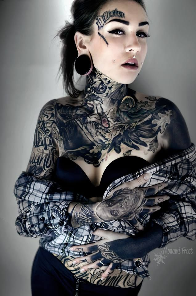 Monami frost tattooed women pinterest for Woman with tattoos