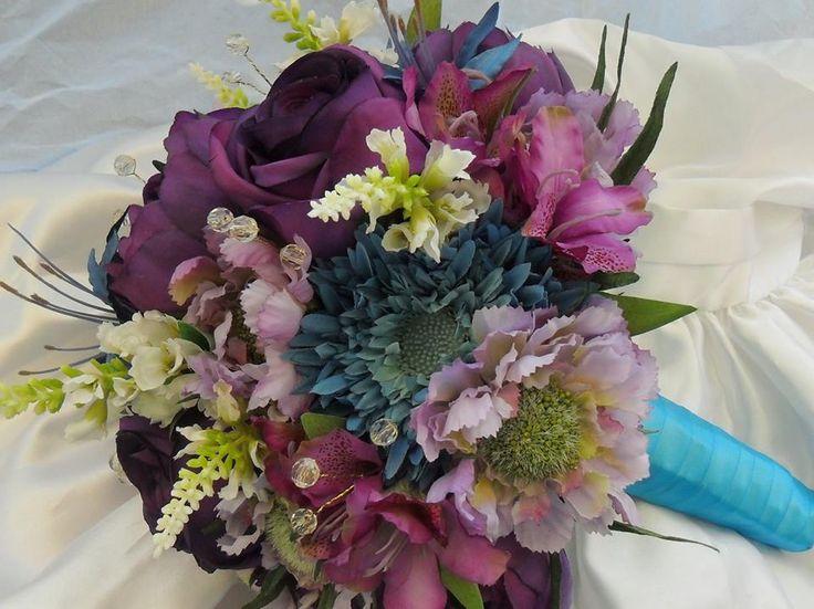 Artificial Flower Wedding Bouquet