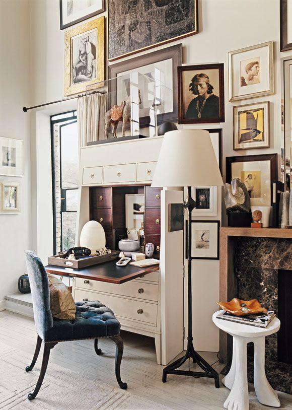 Thomas O'Brien's apartment, Irish Chair, post-makeover.