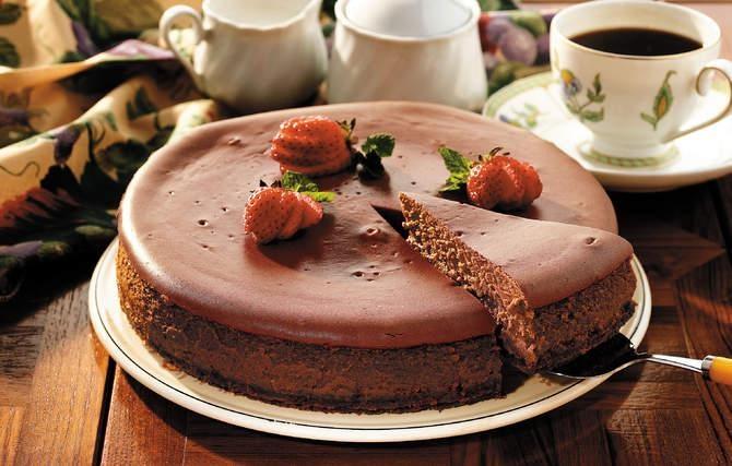 Fudge Truffle Cheesecake - This cheesecake was Grandma's gift of love ...