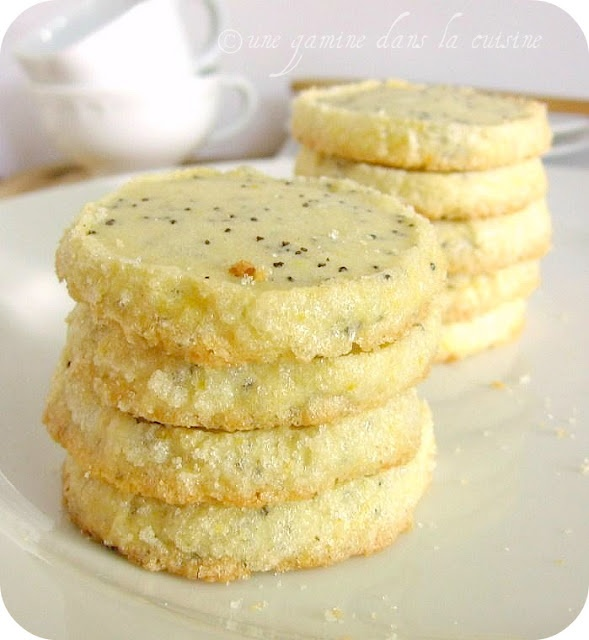 Lemon Poppy Seed Sablés | Luscious Lemon | Pinterest