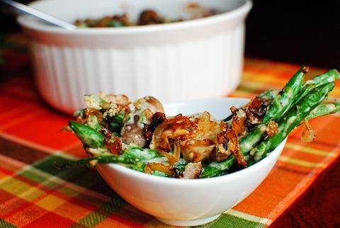 Green Bean Casserole with Crispy Shallots.