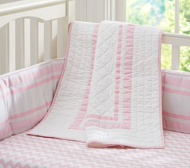 Harper Light Pink Nursery Bedding #PotteryBarnKids
