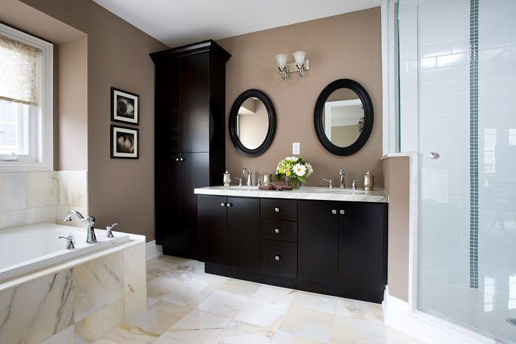 Wall Decor For Brown Bathroom : Decoration ideas bathroom tan walls