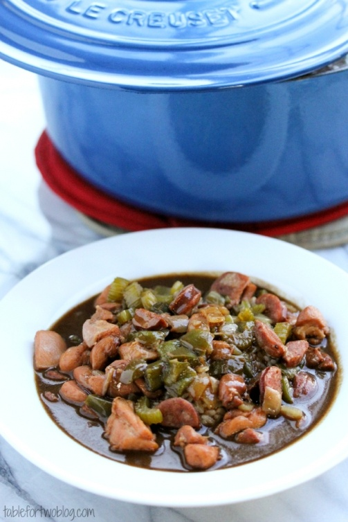 Chicken and Andouille Sausage Gumbo » Table for Two