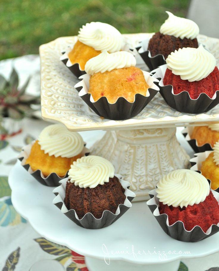 Mini Bundt Cake Decorating Ideas
