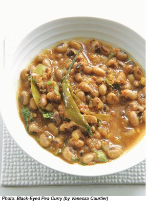 on black eyed peas and greens for NYD dinner. Curried Black Eyed Peas ...