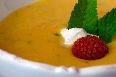 ... the mint and without the vanilla - Chilled Peach Soup   gapeaches.org