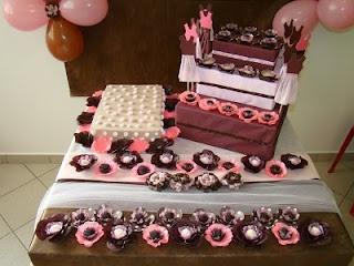 Aprontando artes: decoração festa infantil marrom e rosa