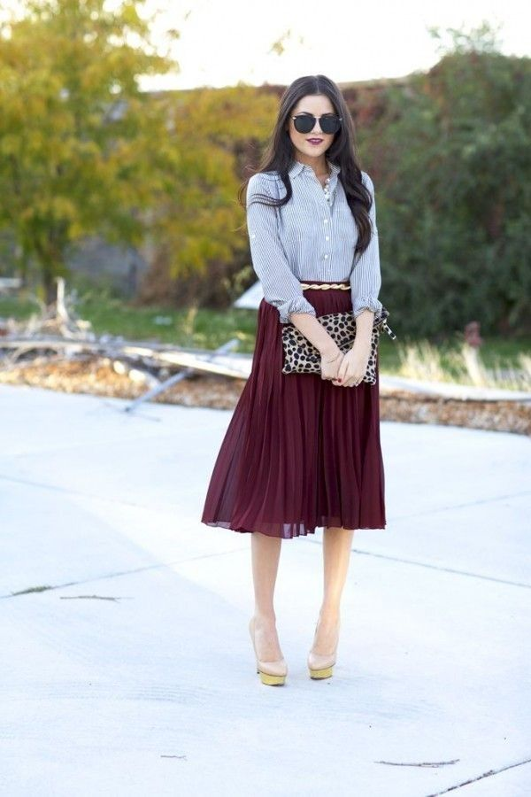 Pleated skirt: outfit inspiration