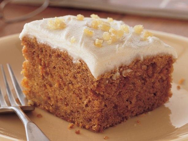 Ginger Carrot Cake -- very moist and tasty! | Recipes | Pinterest