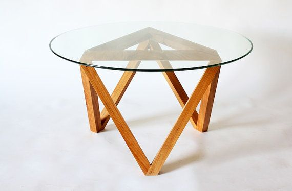 Modern Glass And Wood Coffee Table : coffee tables