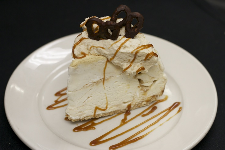 ... Malty Ice Cream Pie with a pretzel crust and caramel whipped cream