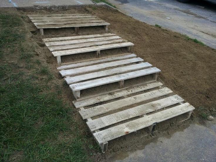 pallet steps pallet projects pinterest