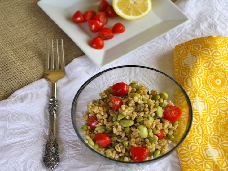 Spring Barley Salad with Lemony Dressing | salads | Pinterest
