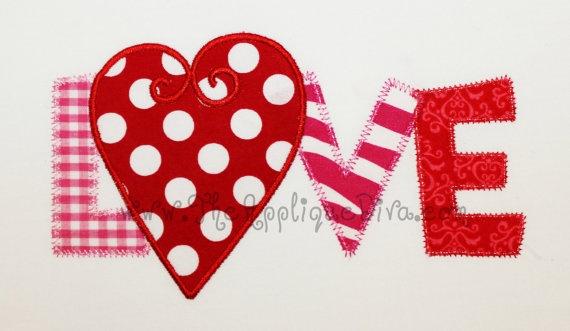 valentine applique font