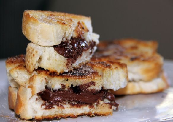 Alice Medrich's grilled chocolate sandwiches, dusted with cinnamon ...