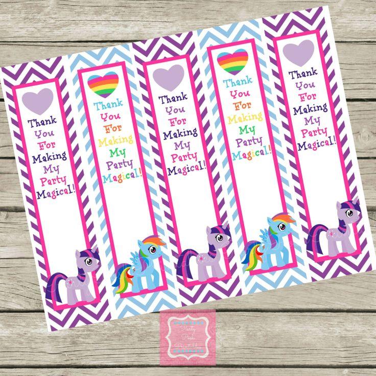 ... Pretty Pony Chevron Birthday Thank You by PartyPoshPrintables, $6.00