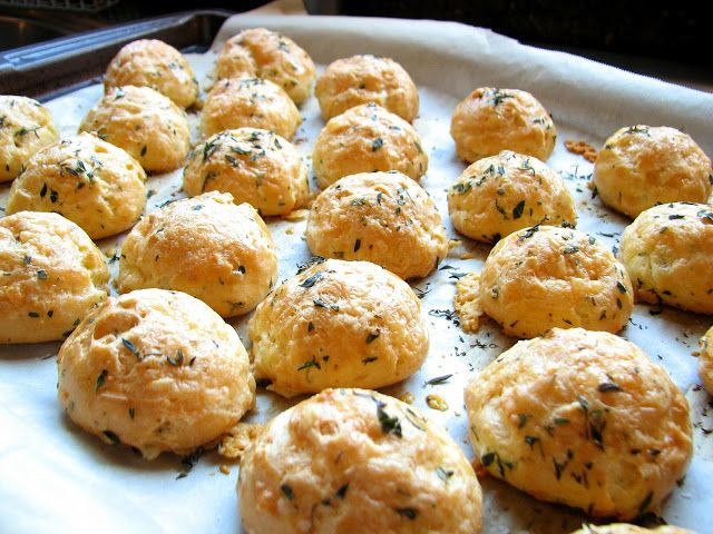 Thyme Gougeres... | Appetizers & Finger Food | Pinterest