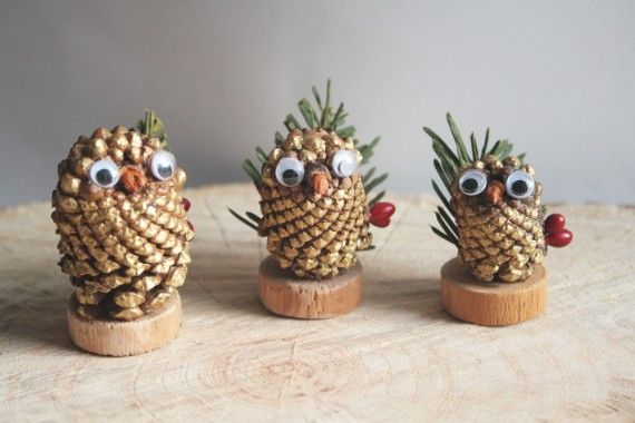 Christmas Crafts with Pine Cones