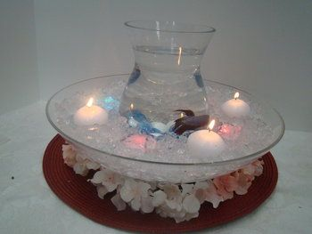 Beta fish centerpiece fall party pinterest for Beta fish centerpiece